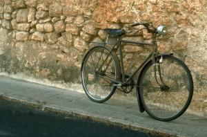 Bike Along Stone Wall
