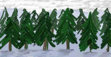 Christmas Tree Drawing