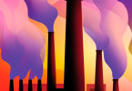 Factory Smokestacks Drawing