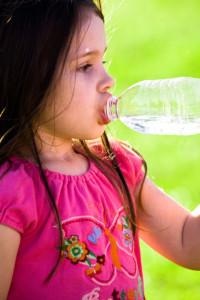 Girl Drinking Bottle Water