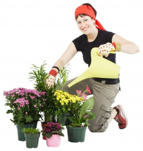 Women Watering Plants