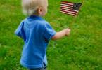 American flag - child