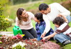 Family Planting or Gardening