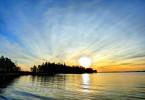 Sunrise In Maine Over Island