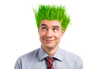 guy with goffy green hair