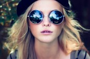 Hippy Girl with Sunglasses